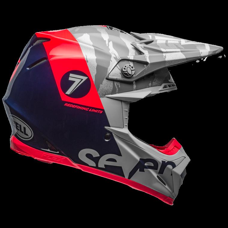 Casco Bell Moto 9- Flex SEVEN ( Carbono )